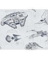 Papiers peints  Revetement mural Papier Collection Disney marvel star wars PAPIER PEINT STAR WARS SHIP SCHEMAT  DY0306