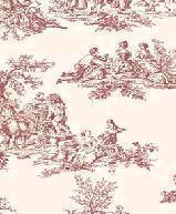 Papiers peints  Revetement mural Vinyle Collection Beaumanoir VINYLE ROMANTIC TOILE ROUGE  GC29851