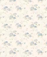 Papiers peints  Revetement mural Vinyle Collection Floral print   VINYLE HORTENSIA CREME BLEU  PR33859