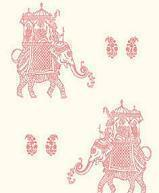 Papiers peints  Revetement mural Intisse Collection  INTISSE ELEPHANTS WHITE PINK  SZ001836