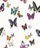 Papiers peints Sejour Chambre  Contemporain Papier Collection Exotix PAPIER PEINT BUTTERFLIES FD BLANC  62690401