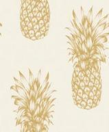 Papiers peints Sejour Chambre  Contemporain Papier Collection Exotix PAPIER PEINT ANANAS VICTORIA OR  62690901